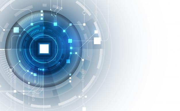 Circuit abstrait fond blockchain de réseautage