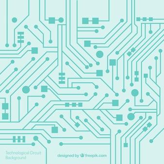 Circuit de fond dans la conception plate
