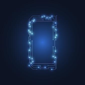 Circuit mobile pour smartphone moderne. illustration vectorielle