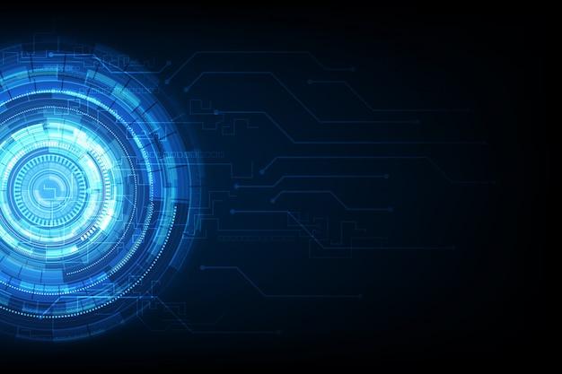 Circuit science fiction technologie abstraite