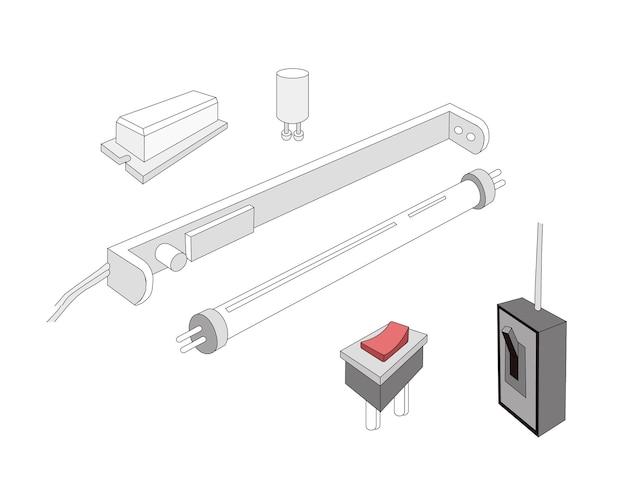 Le circuit d'un tube de lampe fluorescente