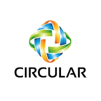 Circulaire - modèle de logo