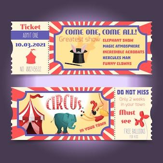 Circus billets rétro