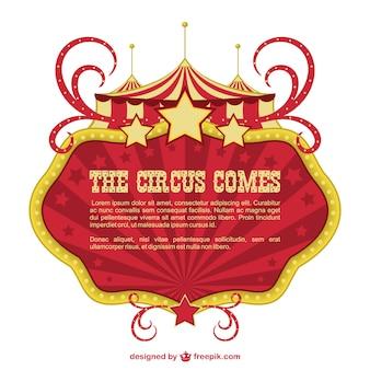 Cirque bannière showtime conception