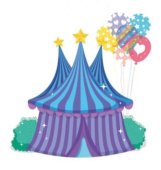 Cirque big top entertainment avec des ballons
