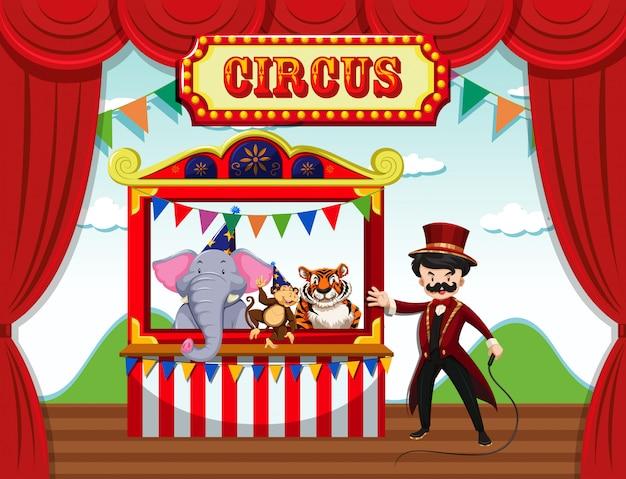 Cirque, modèle de thème de parc d'attractions, fête foraine
