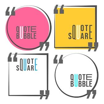 Citation de carrés et de discours modèle de bulle