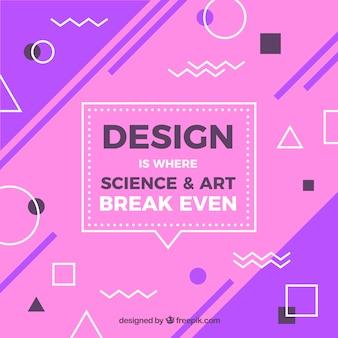Citation de conception graphique avec un message inspirant