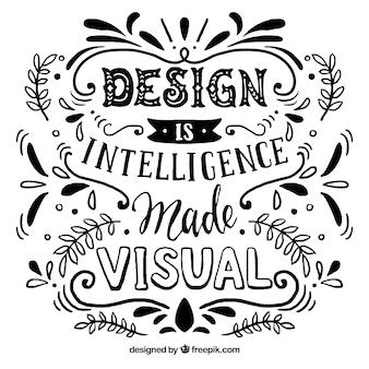 Citation de design graphique en style dessiné à la main