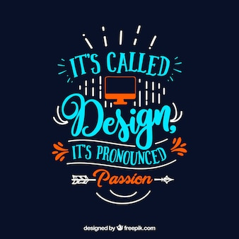 Citation de design graphique en style dessiné à la main