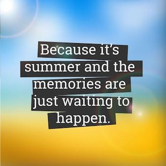 Citation d'été
