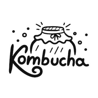 Citation de kombucha avec pot