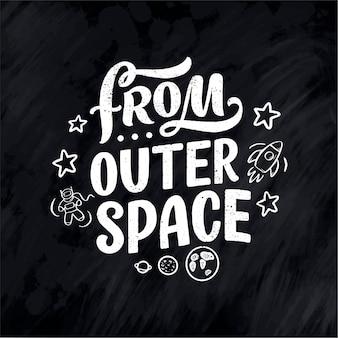 Citation de lettrage de croquis sur l'espace