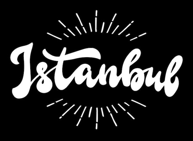 Citation de lettrage à la main «istanbul» pour bannières