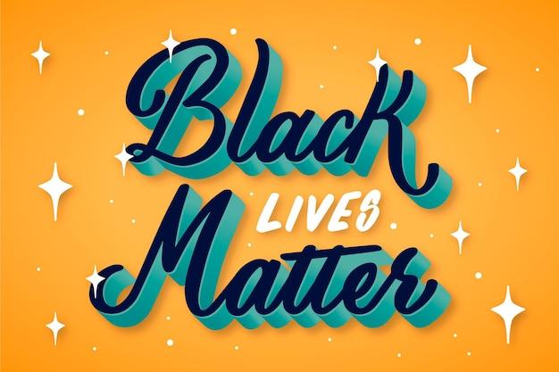 Citation de lettrage de matière vivante noire