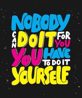 Citation de lettrage de motivation et d'inspiration.