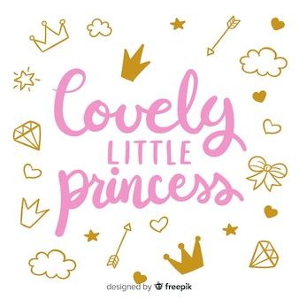 Citation de lettrage à la princesse