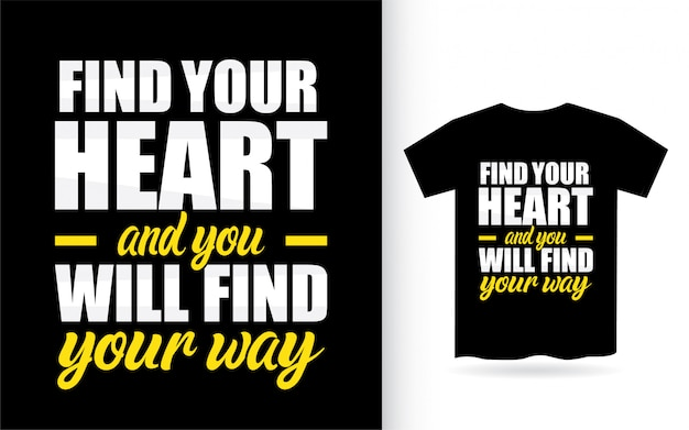 Citation de motivation sur la conception de lettrage de coeur pour t-shirt