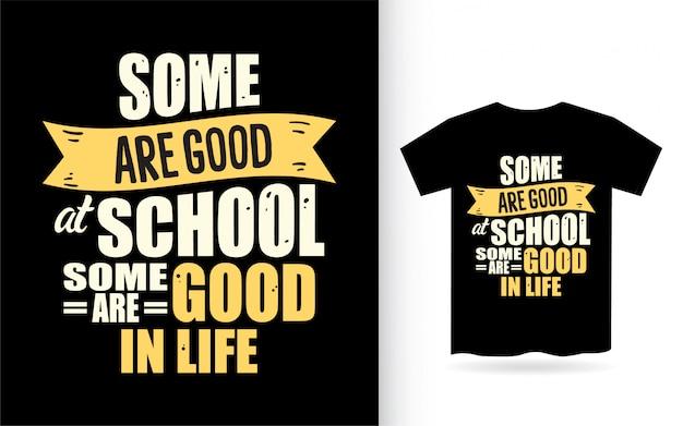 Citation de motivation sur la conception de lettrage de vie pour t-shirt
