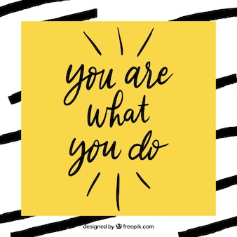 Citation de motivation moderne en couleur jaune