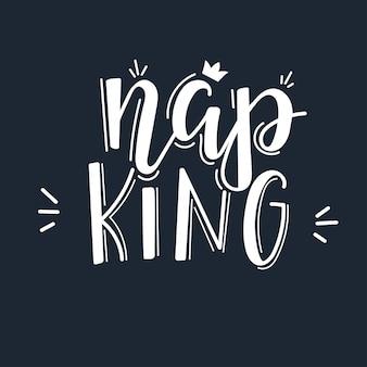 Citation de motivation nap roi dessiné à la main.