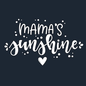 Citation de motivation de soleil de maman dessiné à la main.