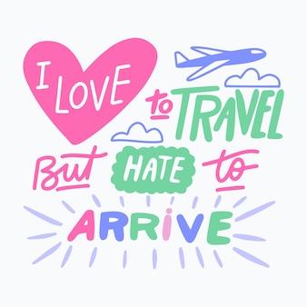Citation positive avec thème de voyage