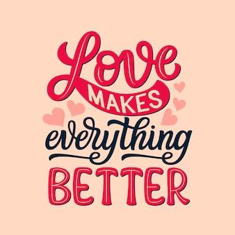 Citation de typographie d'amour