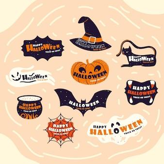 Citations de lettrage d'halloween