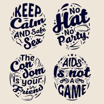 Citations de lettrage de la journée mondiale du sida
