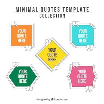 Citations modèle dans un style minimaliste
