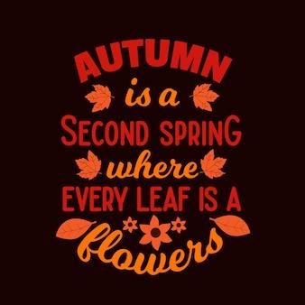 Citations de typographie d'automne drôles disant lettrage