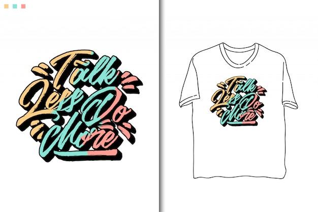 Citations de typographie dans le modèle de t-shirt