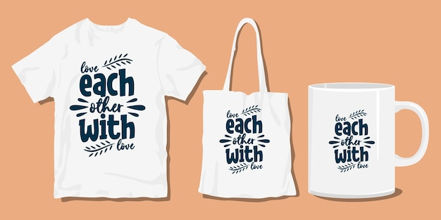 Citations de typographie de t-shirt familial. marchandise pour impression