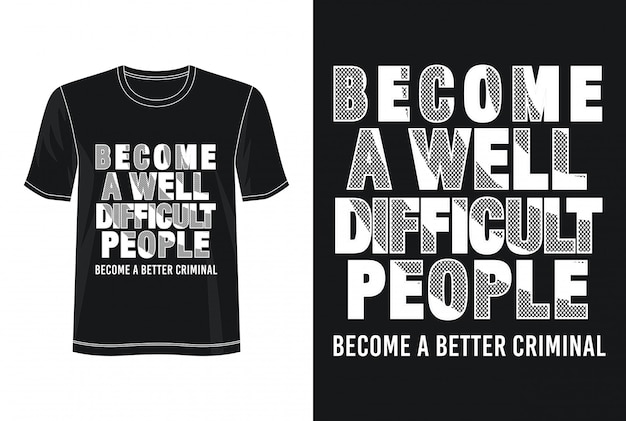 Cite la typographie pour t-shirt imprimé