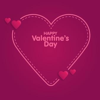 Citez les cases en pointillés. style de griffonnage. illustration vectorielle de saint valentin