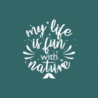 Citez sur la vie qui inspire et motive avec le lettrage typographique.