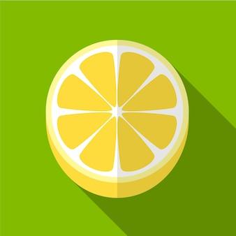 Citron plat icône illustration isolé vecteur signe symbole
