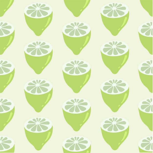 Citron tranche arrière plan médias sociaux post fruits illustration vectorielle