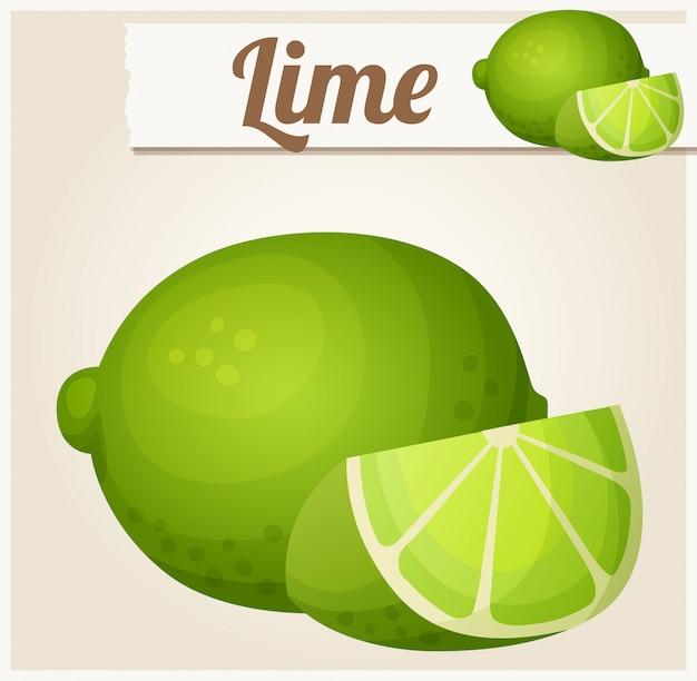 Citron vert. icône de vecteur détaillé