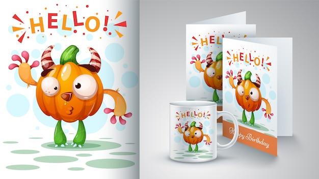 Citrouille de dessin animé