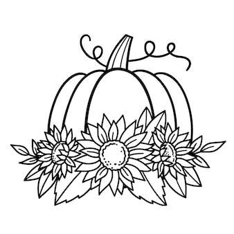 Citrouille fleur citrouille tournesol happy halloween