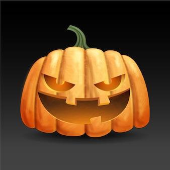 Citrouille d'halloween au design réaliste