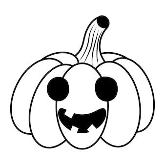 Citrouille d'halloween dans le style doodle. illustration de croquis de vecteur.
