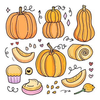 Citrouille halloween dessin collection de fruits citrouille halloween dessin collection de fruits