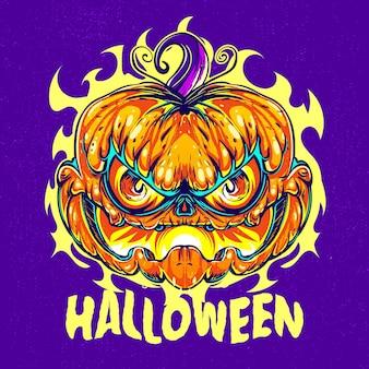 Citrouille d'halloween dessinée à la main