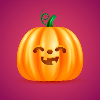Citrouille d'halloween mignonne réaliste