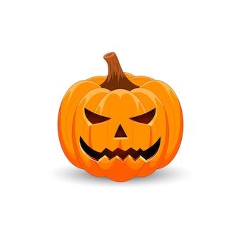 Citrouille d'halloween le symbole principal des joyeuses fêtes d'halloween citrouille orange effrayante avec sourire