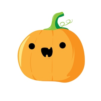 Citrouille d'halloween avec un visage drôle jolly jack stock vector illustration isolated on white