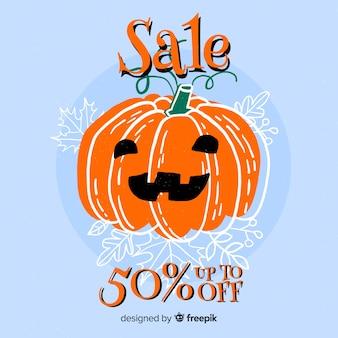 Citrouille, vente spéciale, dessiné, halloween